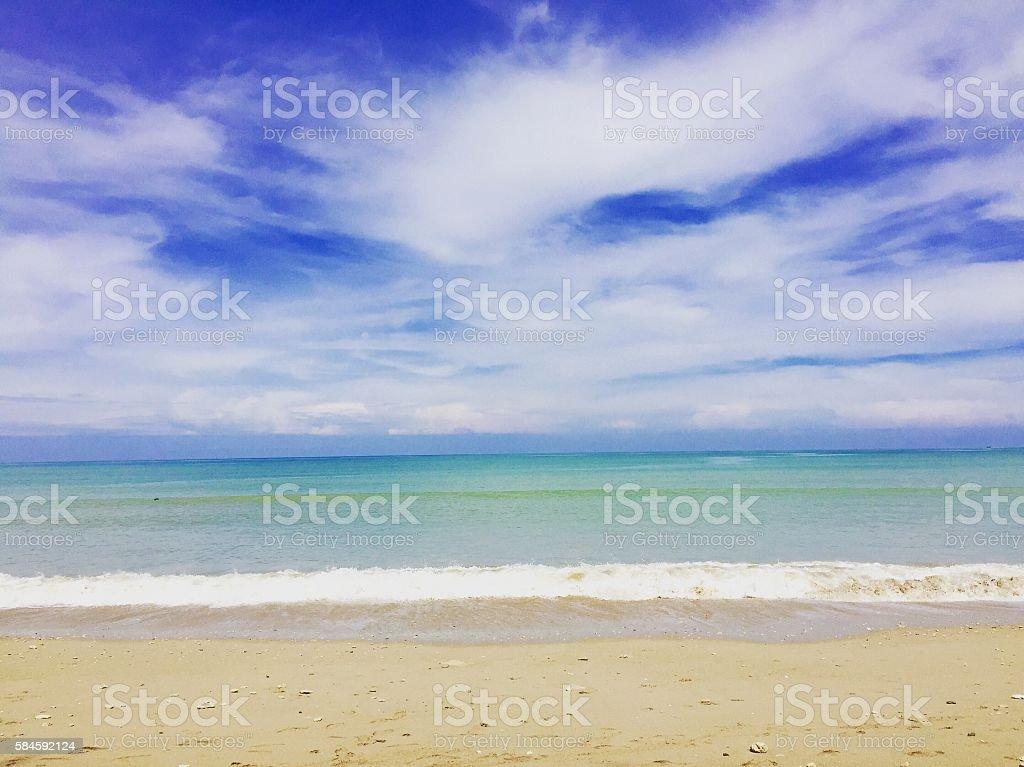 Khaolak beach in Thailand stock photo