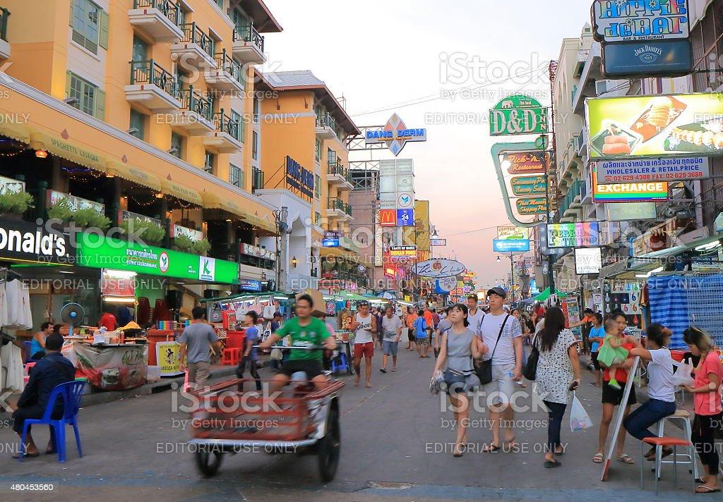 Khaosan Road Bangkok Tourism stock photo