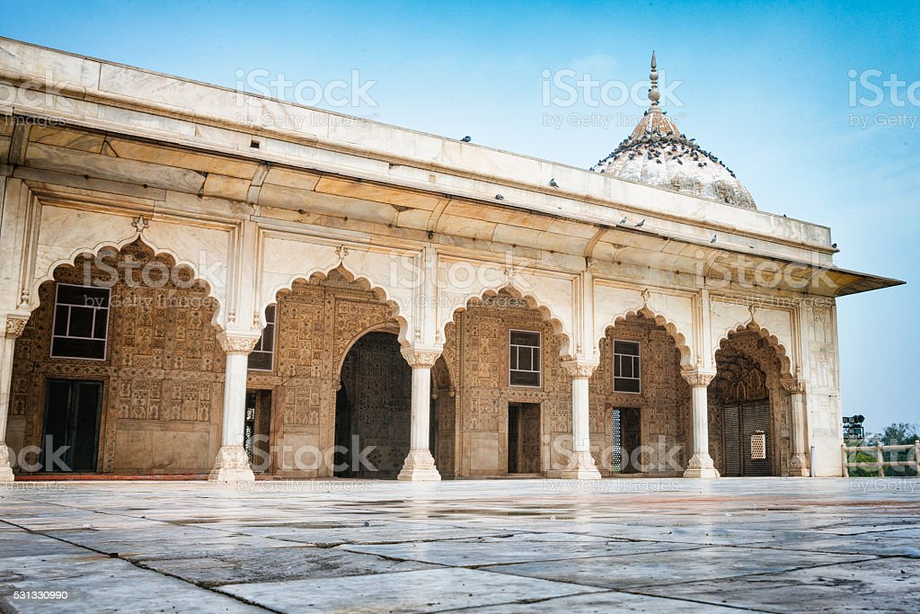 Khas Mahal at the Red Fort in Delhi, India stock photo