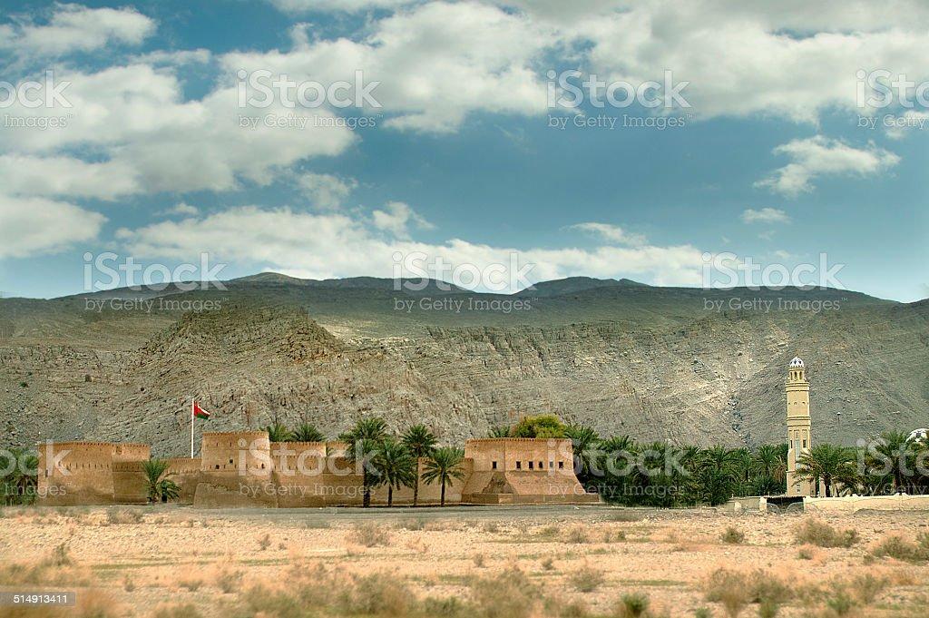 Khasab fort in Musandam (oman) stock photo