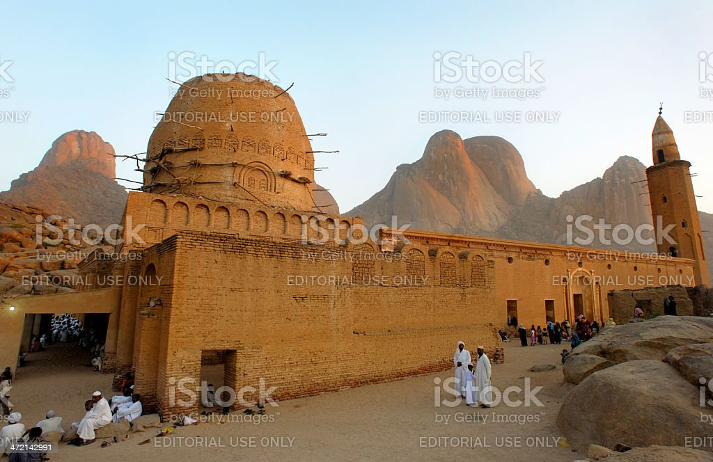 Khatmiya mosque and Taka mountains inKassala , Sudan stock photo