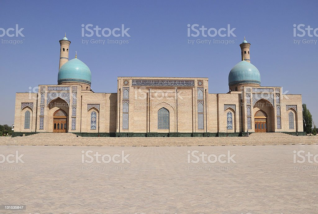 Khazrat-Imom mosque stock photo