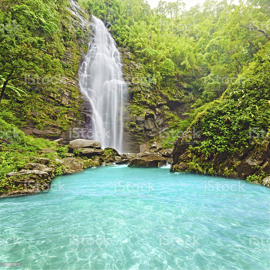 Khe Kem Waterfall royalty-free stock photo