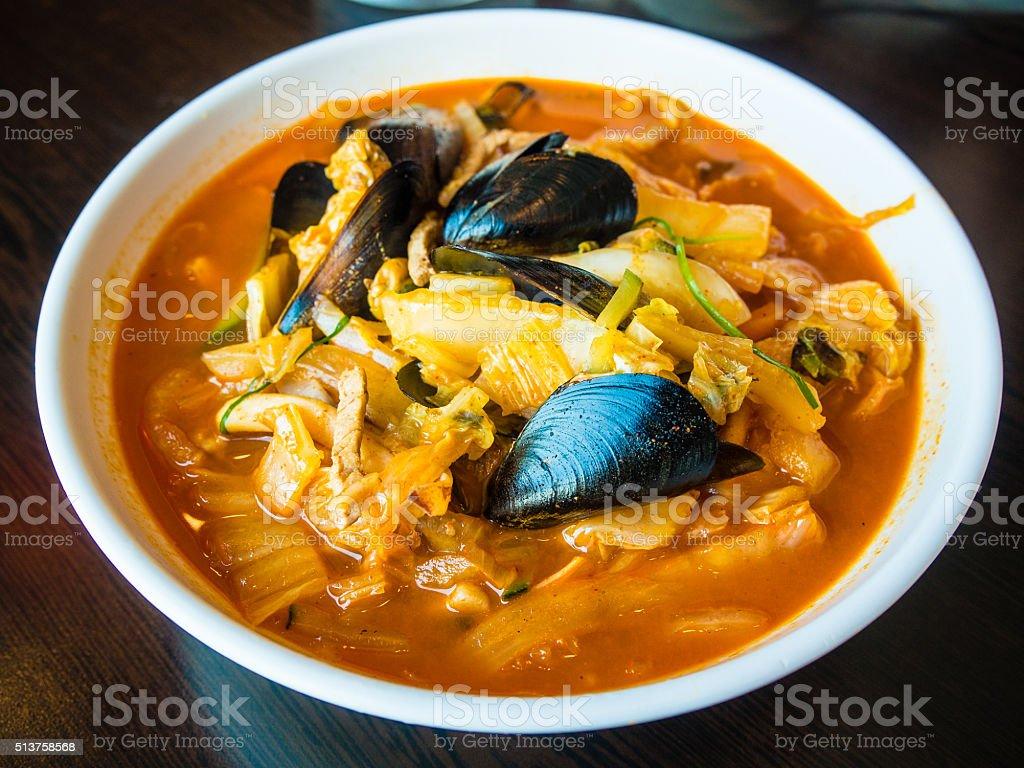 Khimchi soup stock photo