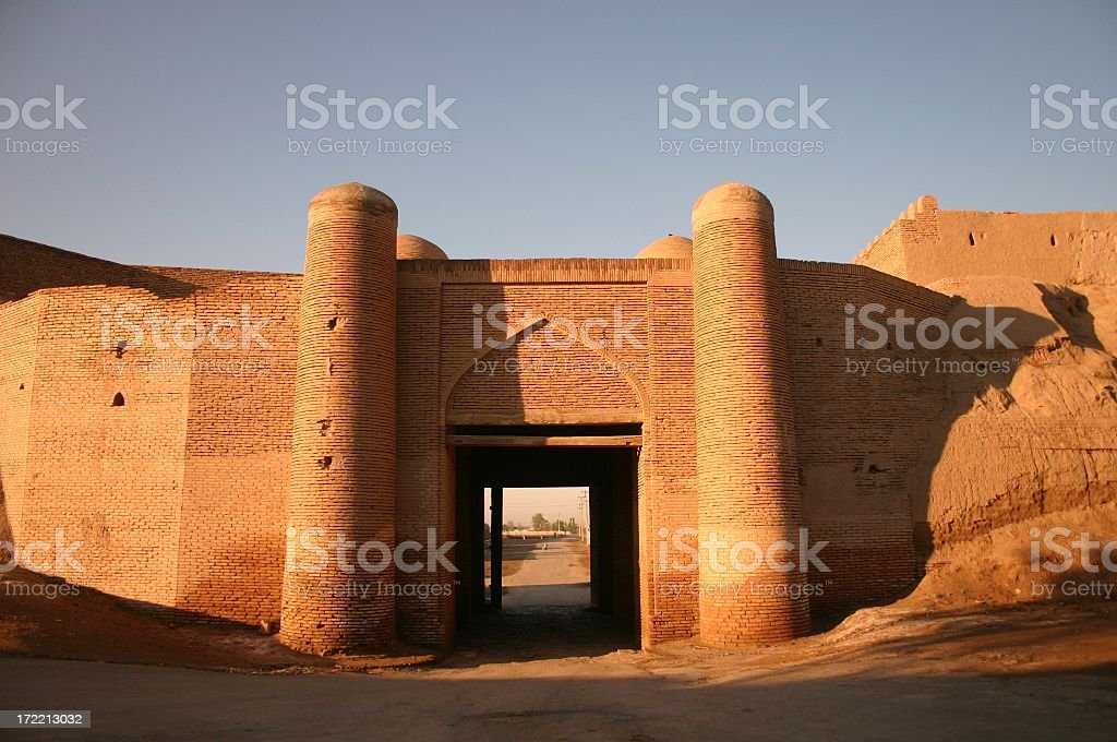 Khiva Gate stock photo