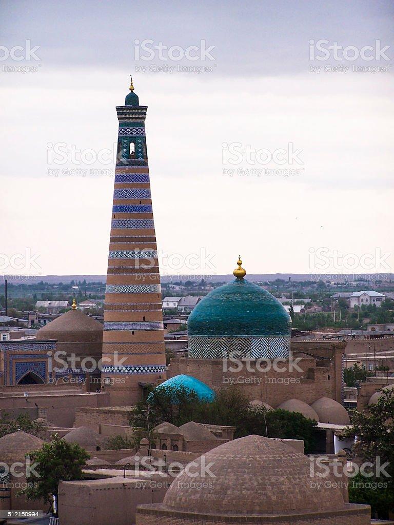 Khiva Minaret stock photo