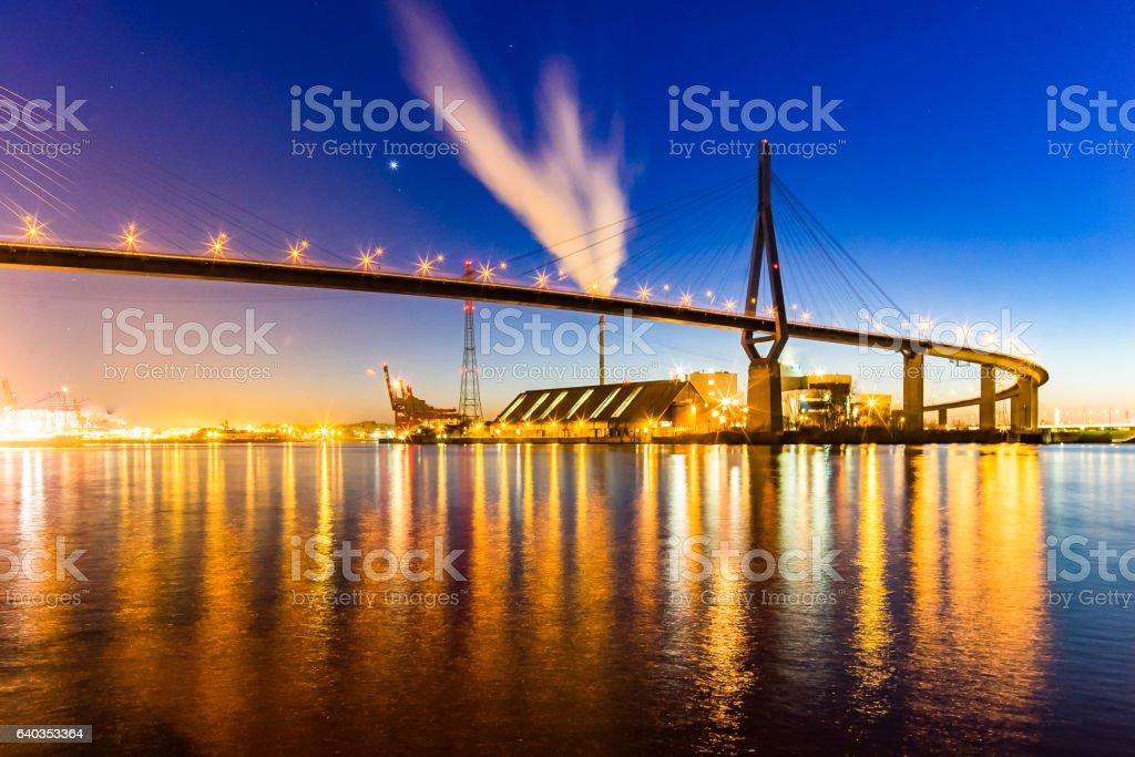 Köhlbrandbrücke - Hamburg stock photo