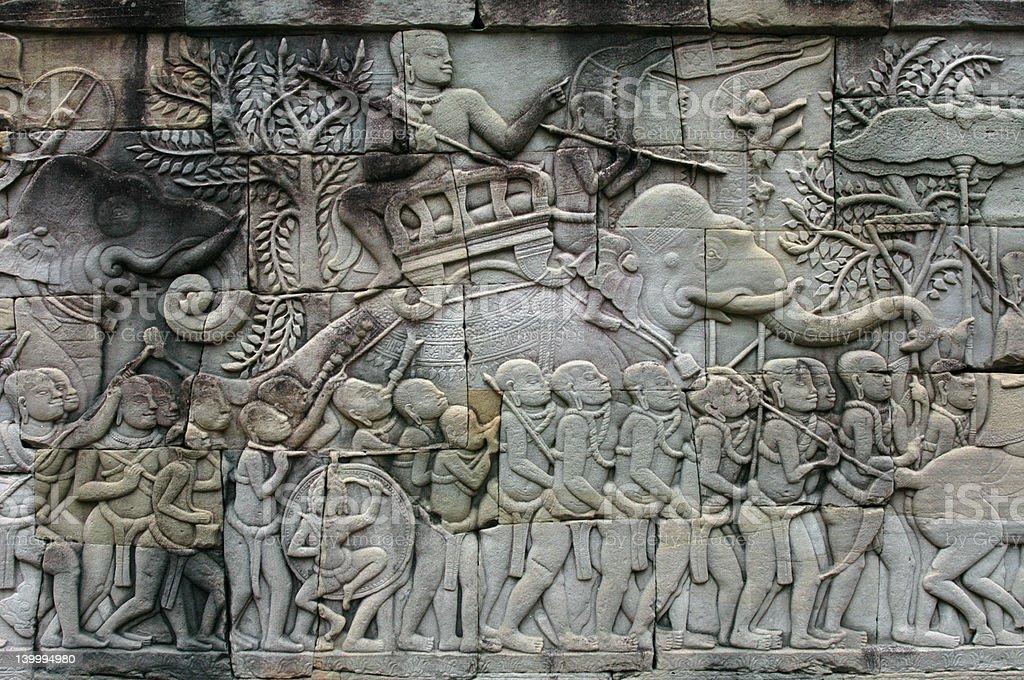 Khmer Army royalty-free stock photo