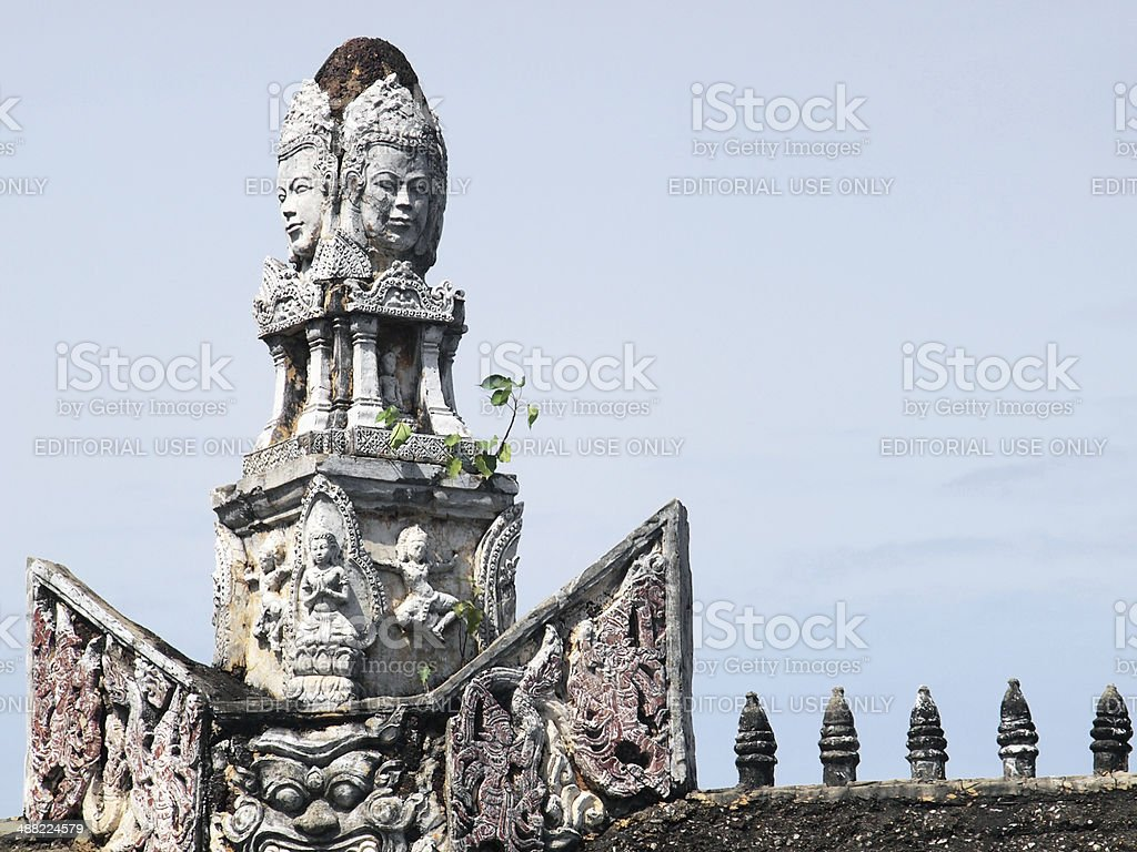 Khmer arts in the Ancient City royalty-free stock photo