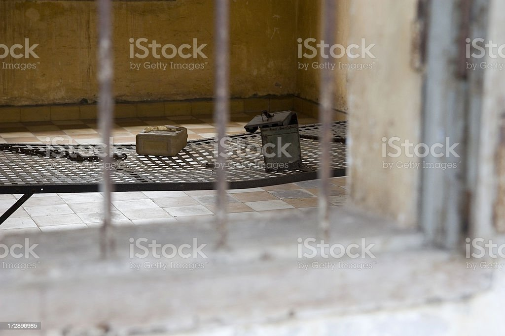 Khmer Rouge torture chamber stock photo