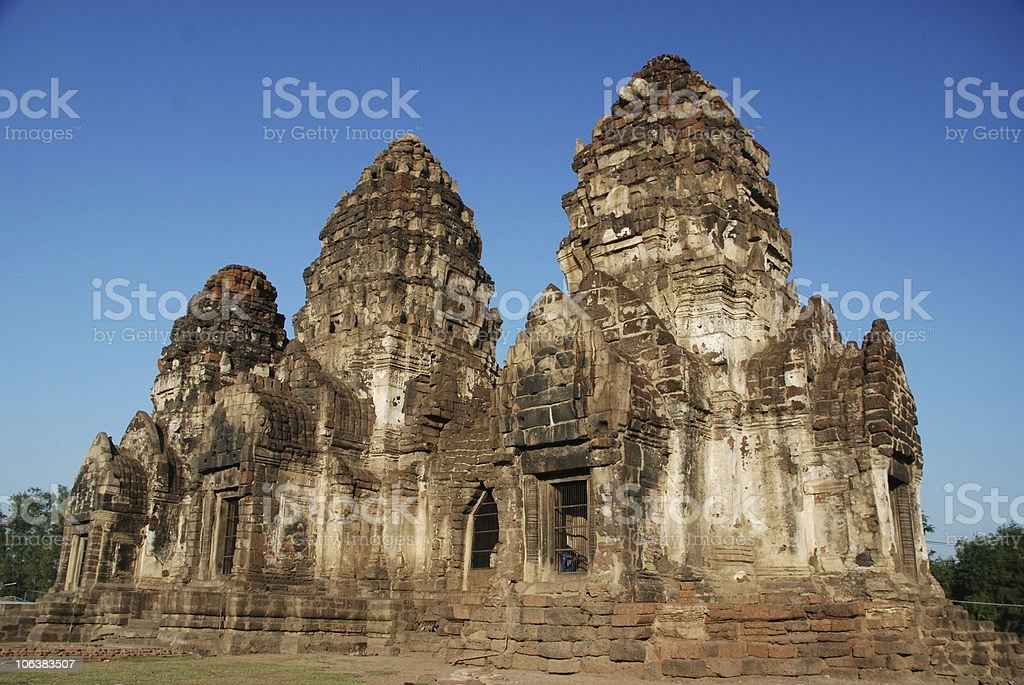 Khmer style temple royalty-free stock photo