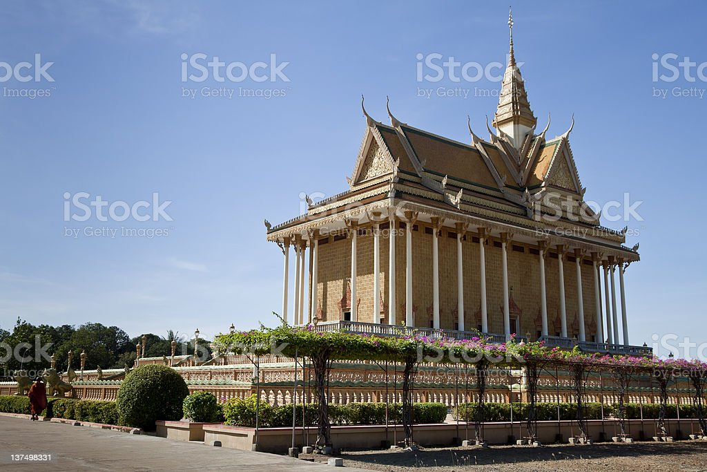 Khmer temple at Oudong in Cambodia royalty-free stock photo
