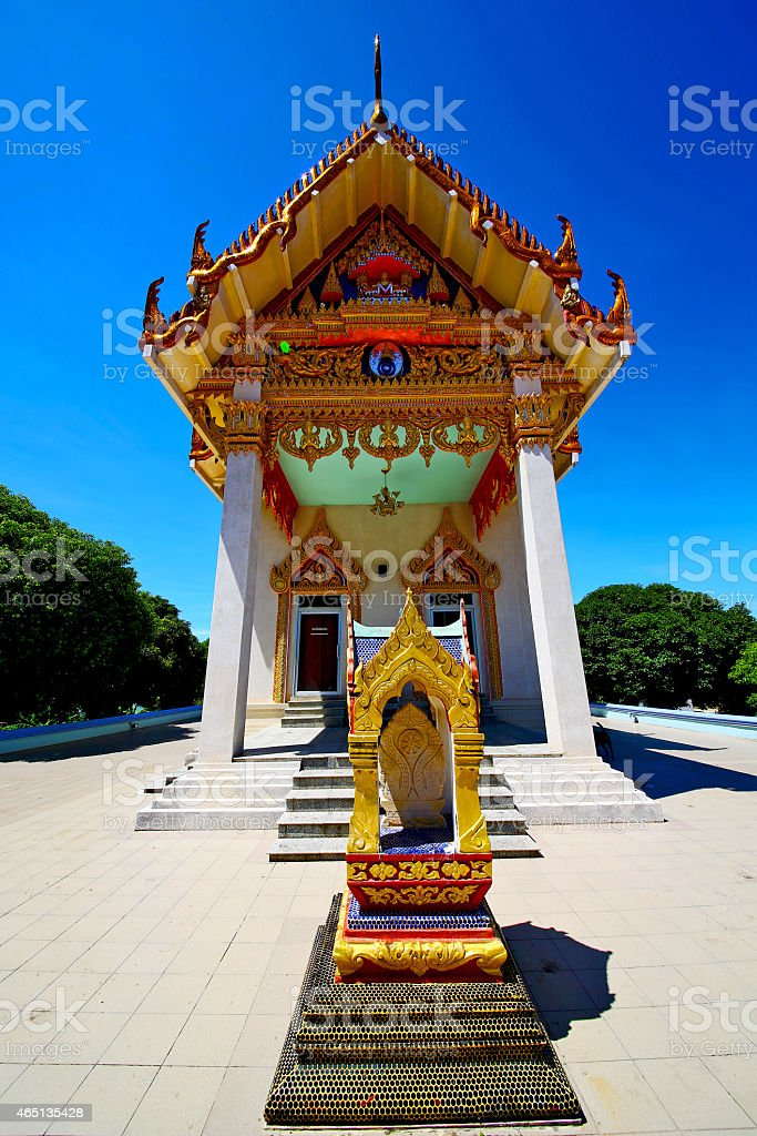 kho samui bangkok in thailand incision of sidewalk temple stock photo