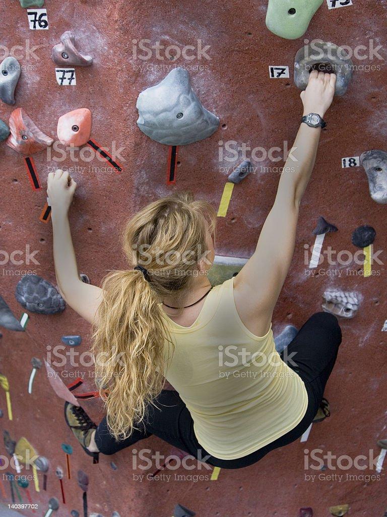 Khole Rock Climbing Series A 33 royalty-free stock photo