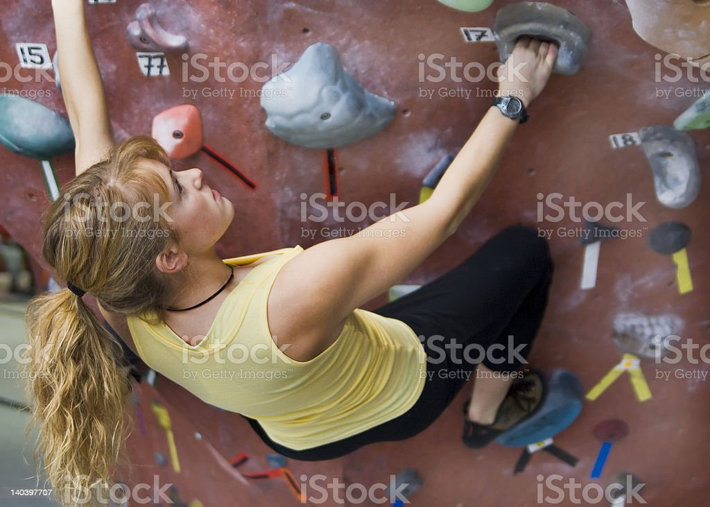 Khole Rock Climbing Series A 42 royalty-free stock photo
