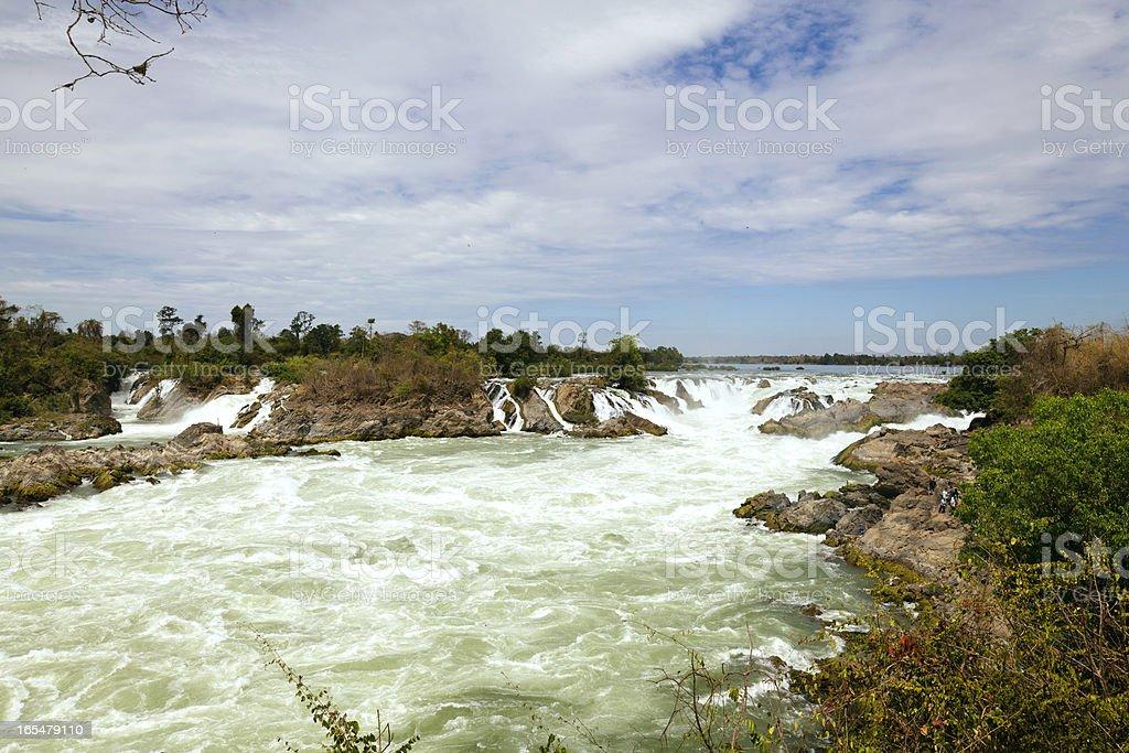 Khone Phapheng Waterfall royalty-free stock photo