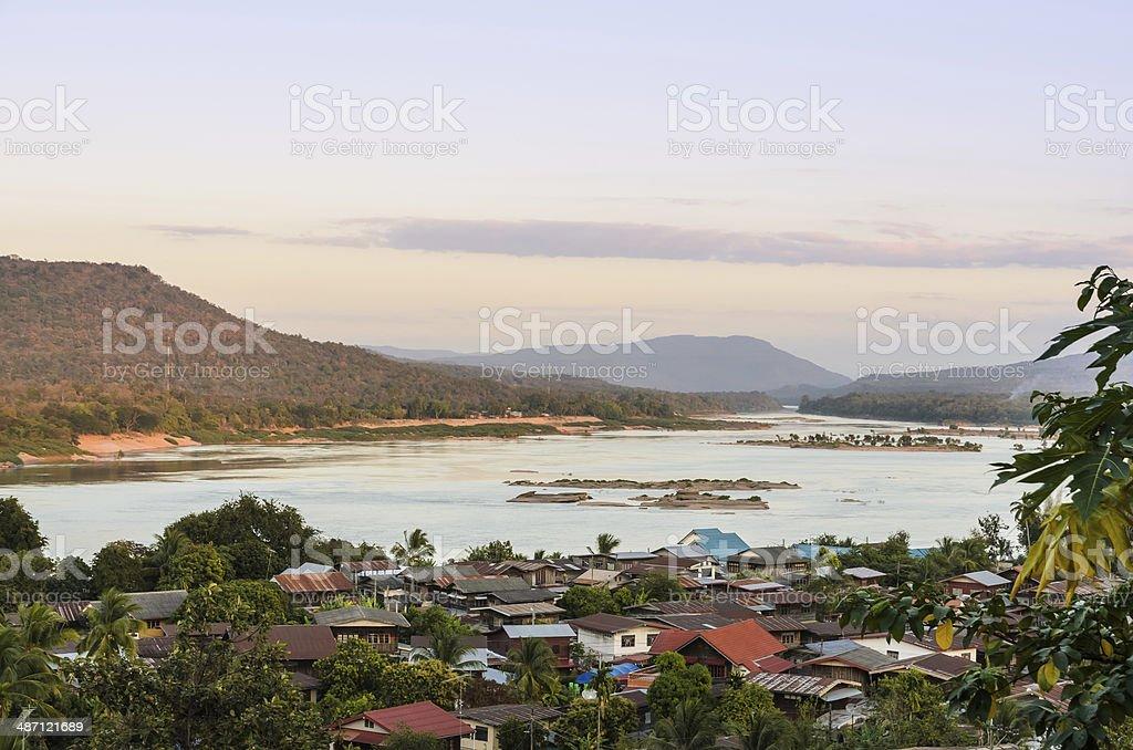 Khong Chiam Village in Thailand stock photo