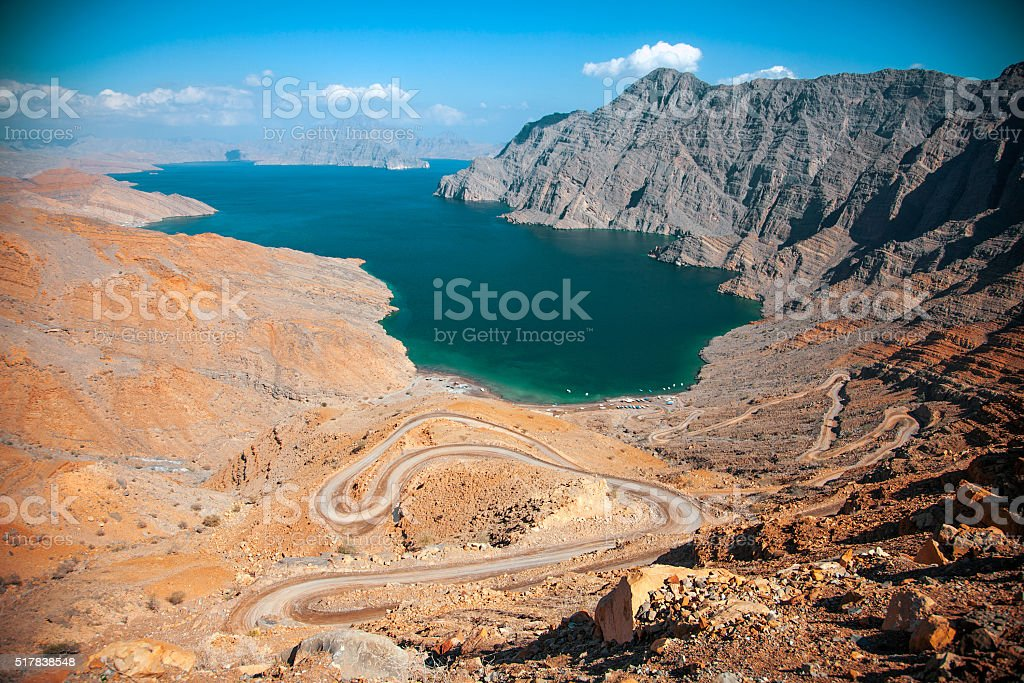 Khor Najd, near Khasab, Musandam peninsula, Oman stock photo