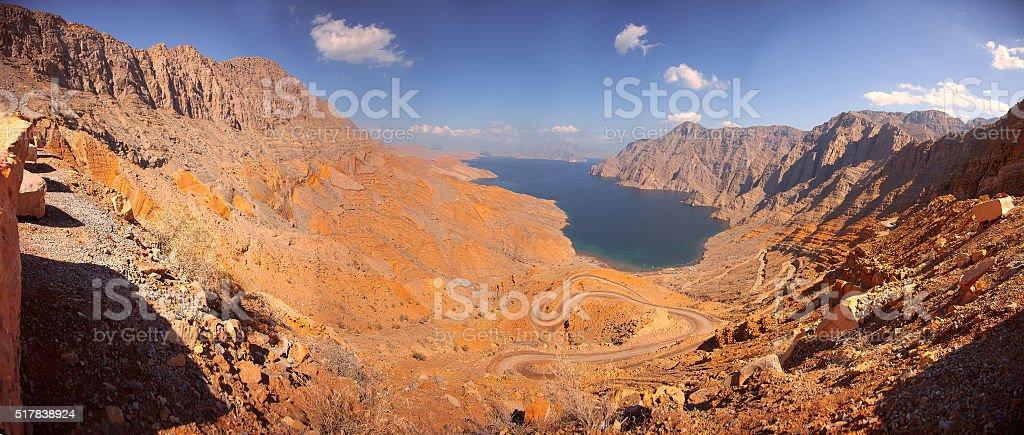 Khor Najd, near Khasab, Musandam peninsula, Oman stock photo