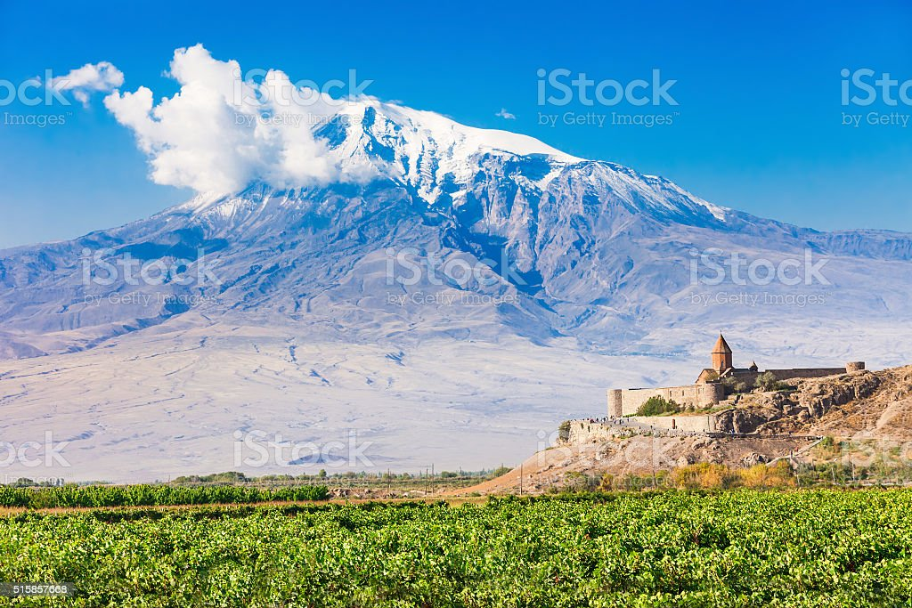 Khor Virap Monastery stock photo