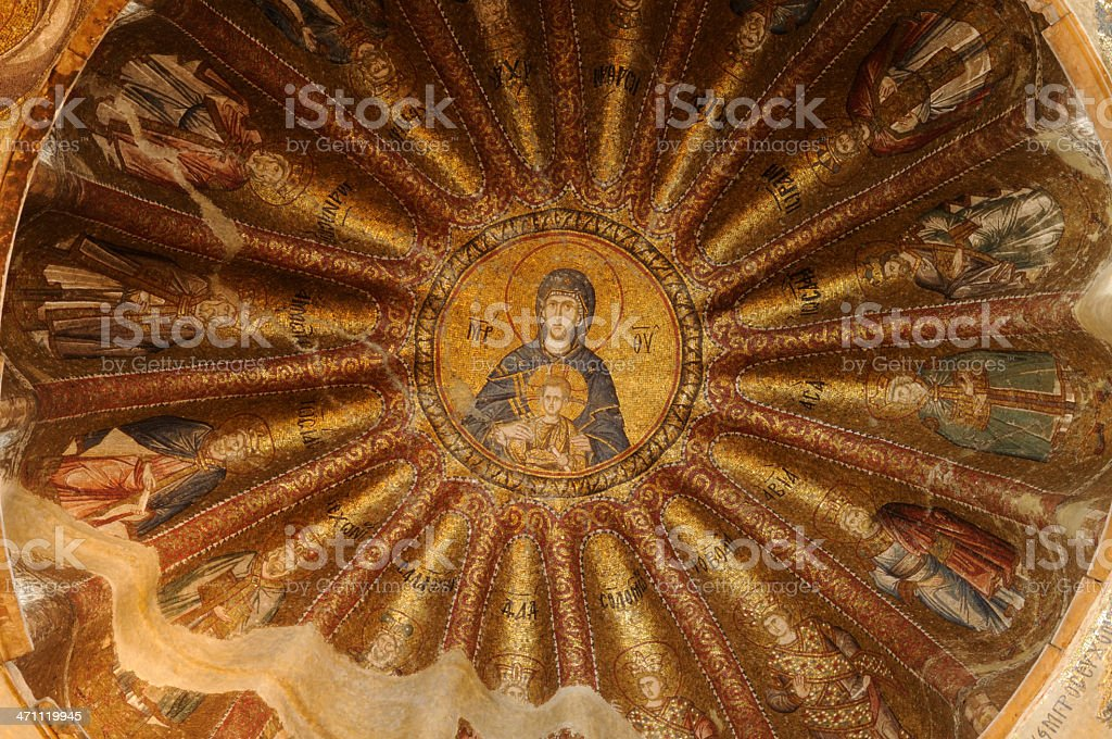 Khora Church Ceiling Detail / Istanbul royalty-free stock photo