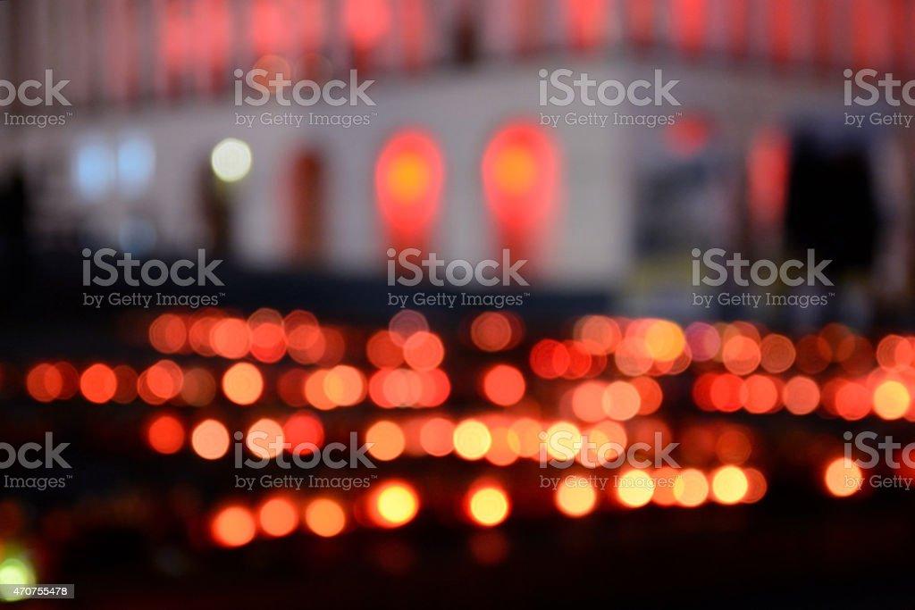 Khreshatyk Street lights Maidan out of focus stock photo