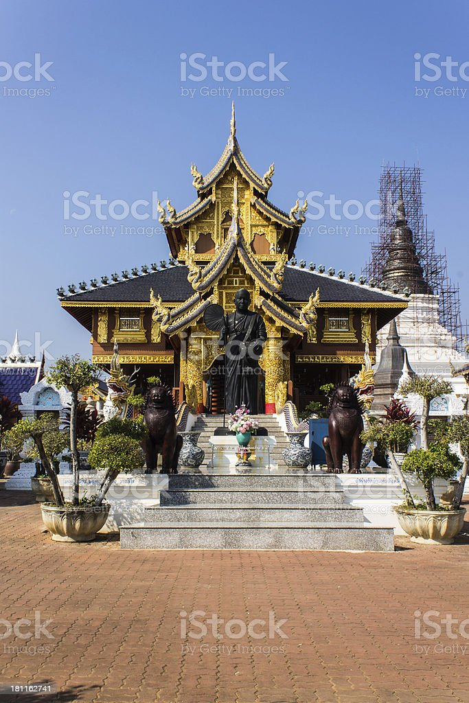 Khuba Htuang statue in Wat Banden royalty-free stock photo