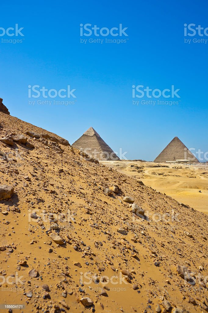 Khufu and Cheops Pyramids royalty-free stock photo