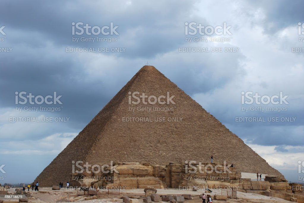 Khufu Pyramide at giza cairo egypt stock photo