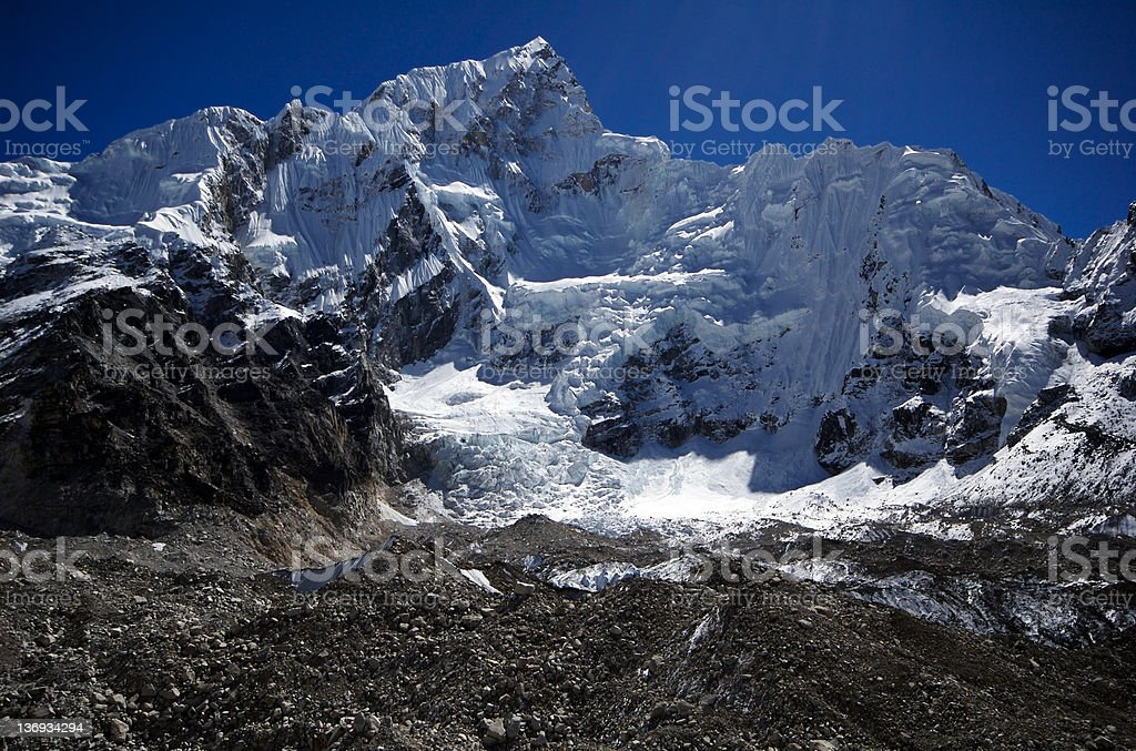 Khumbu Glacier royalty-free stock photo
