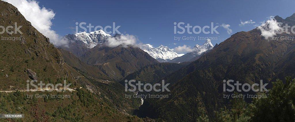 Khumbu valley Nepal royalty-free stock photo