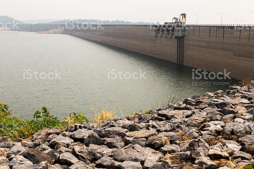 Khundan Prakarnchon Dam, Thailand. stock photo