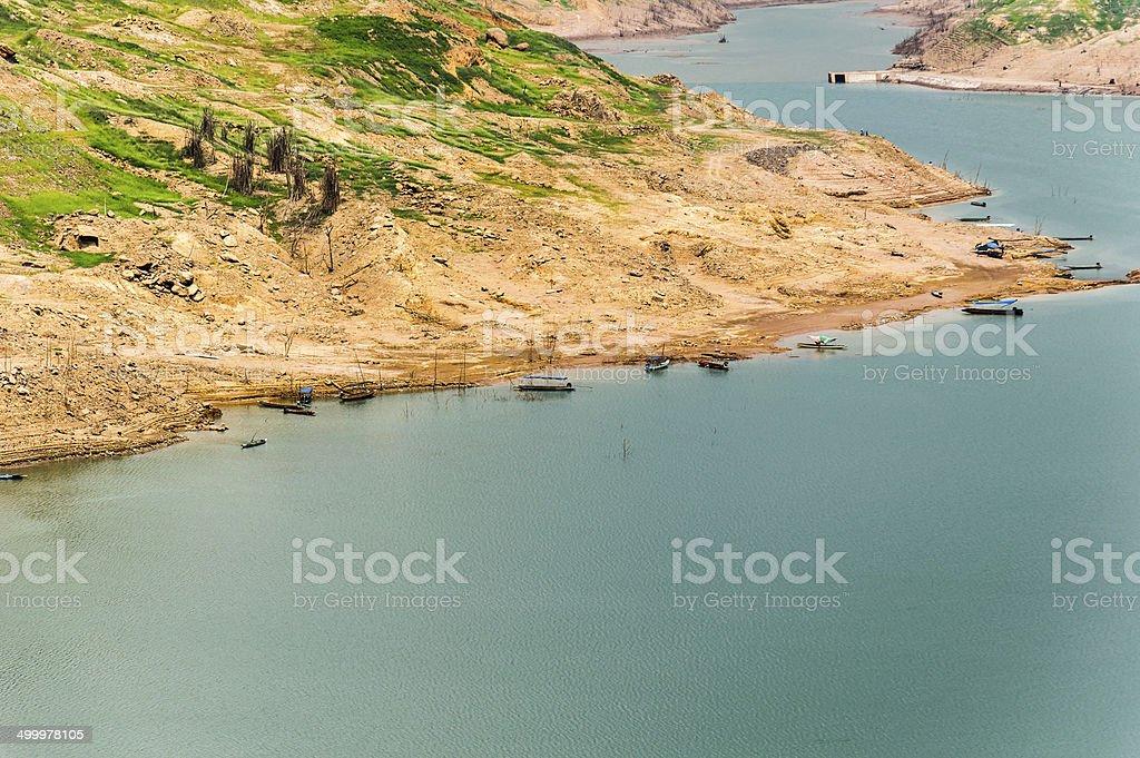 Khundanprakanchon dam, Nakhon Nayok, Thailand stock photo