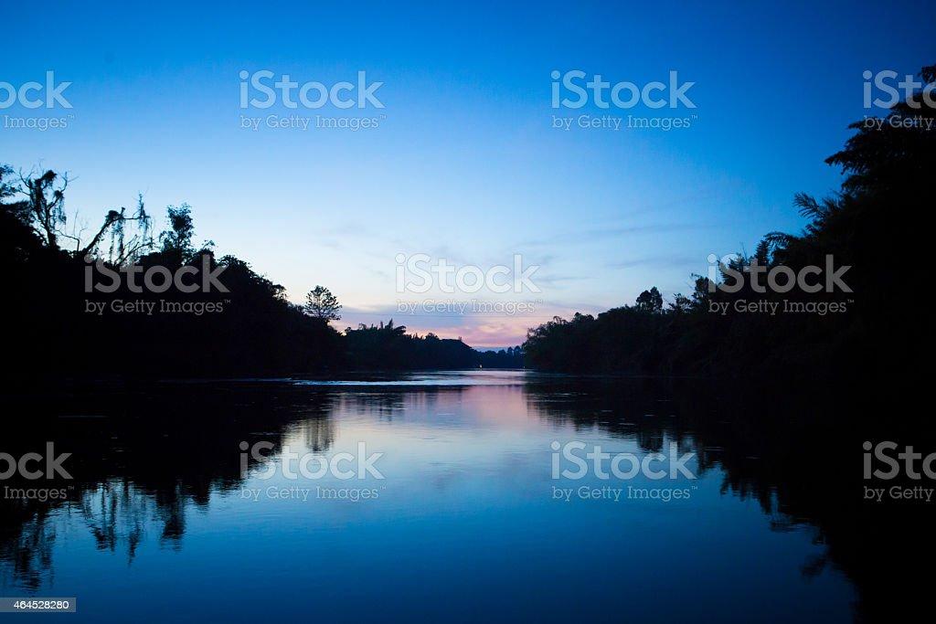 Khwae Noi River in evening stock photo