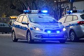 Kia cee'd SW police car on the street