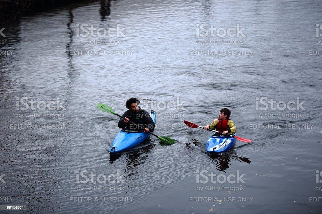 Kiaks in Camden Lock stock photo