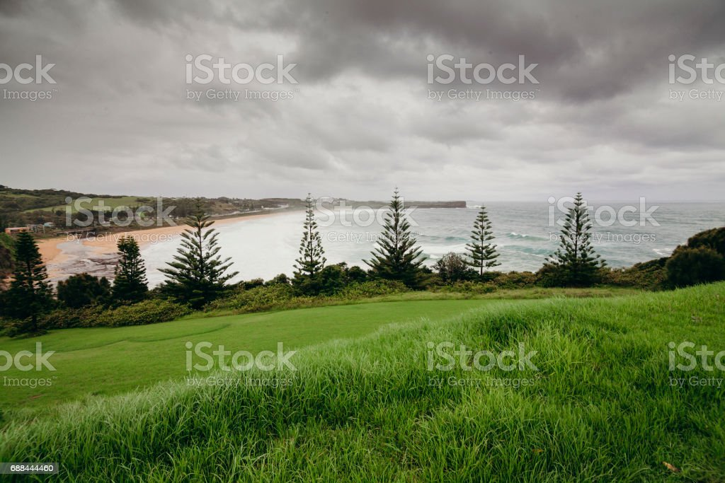 Kiama beach in New South wales, Australia. stock photo