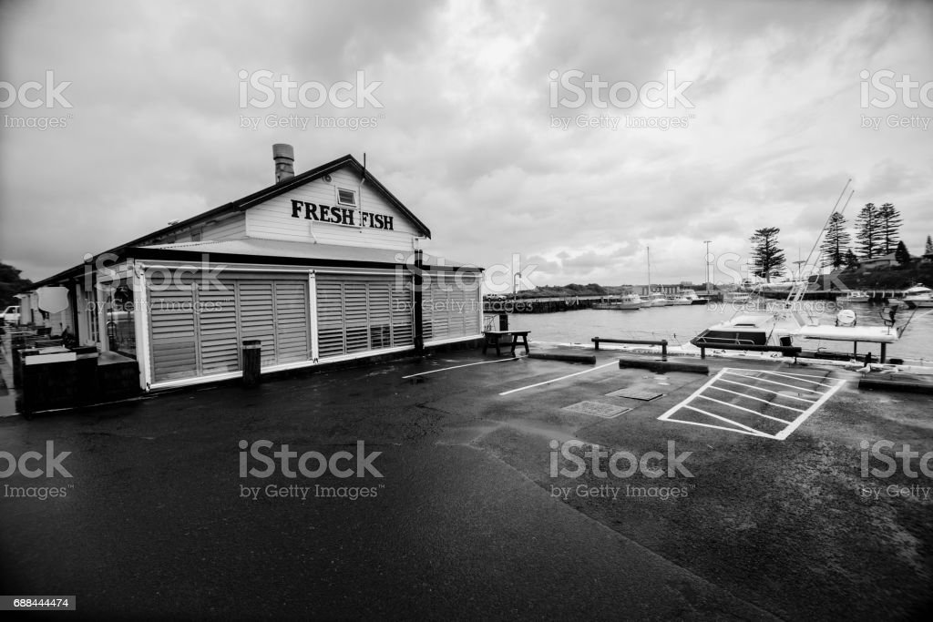 Kiama leisure port, New South Wales, Australia. stock photo