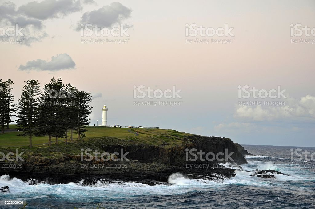 Kiama lighthouse sunset stock photo