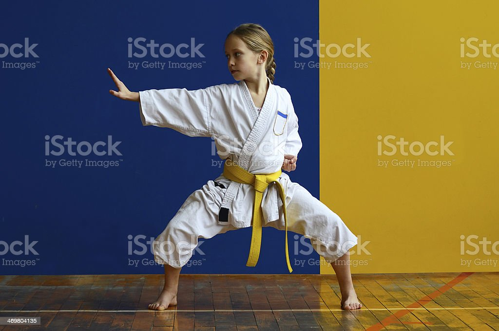 Kiba dachi stock photo