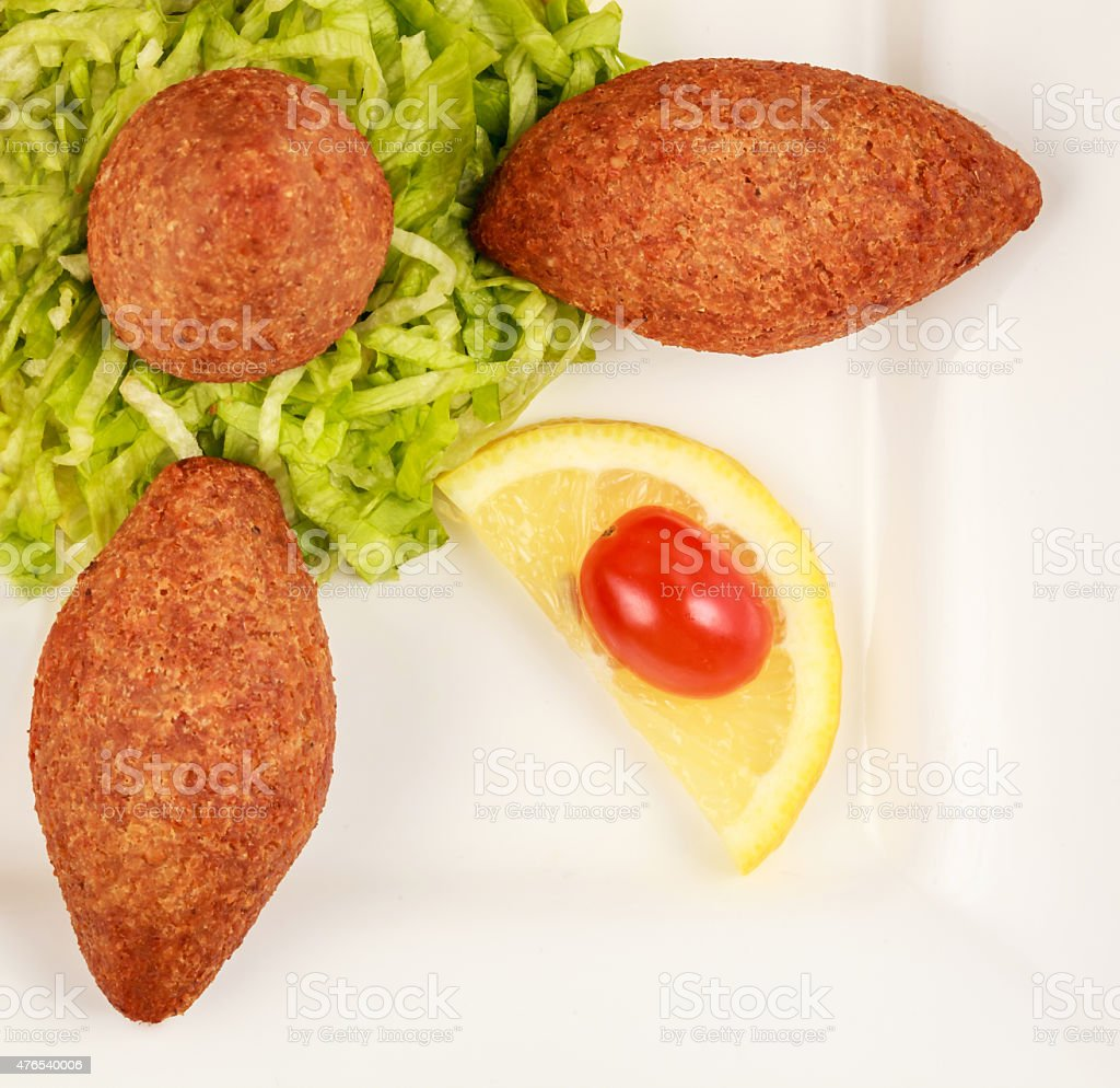 Kibbeh an delicious arabic dish stock photo