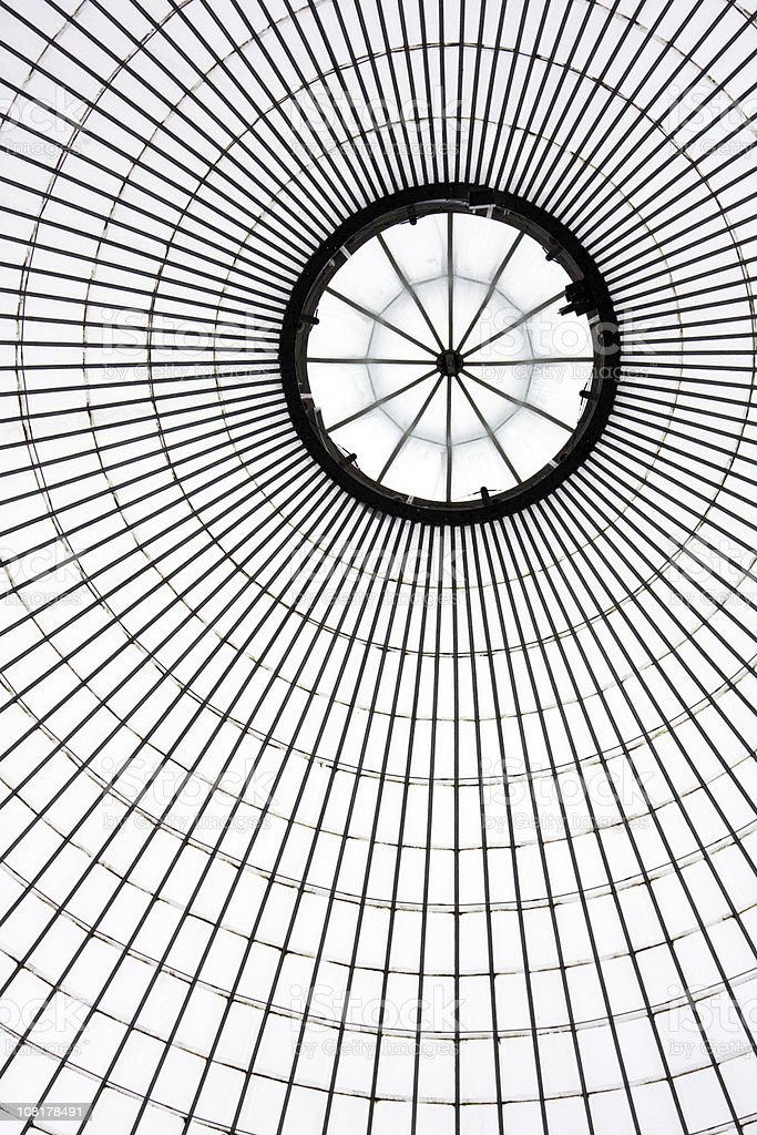 Kibble Palace Dome - Off Centre royalty-free stock photo