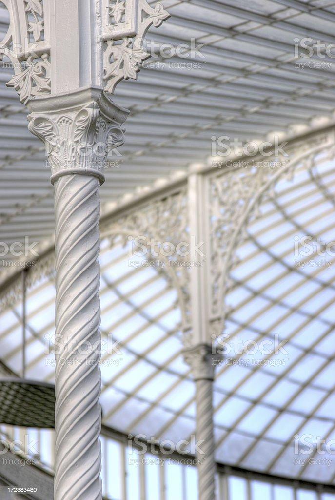 Kibble Palace - Ironwork Detail royalty-free stock photo
