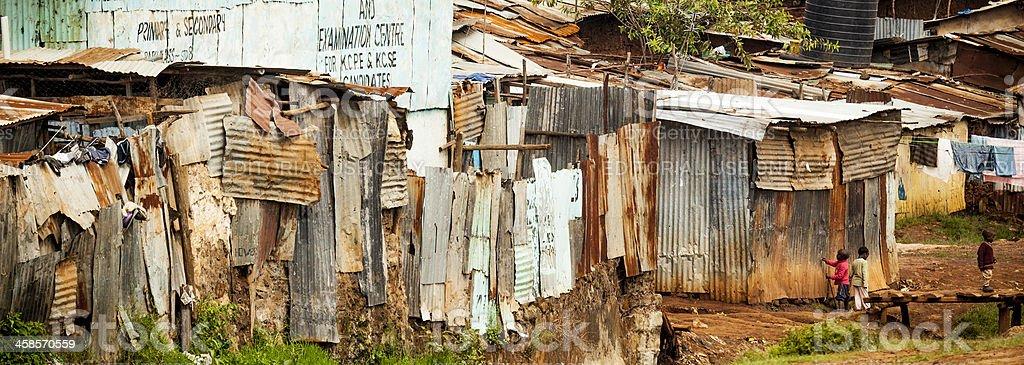 Kibera, a Neighborhood in Nairobi, Kenya stock photo