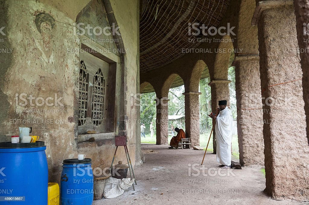 Kibran Gabriel monastery at Lake Tana stock photo