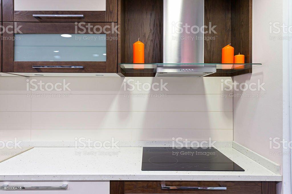 Kichen interior in moden apartment stock photo