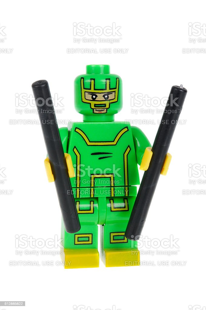 Kick Ass Custom Lego Minifigure stock photo