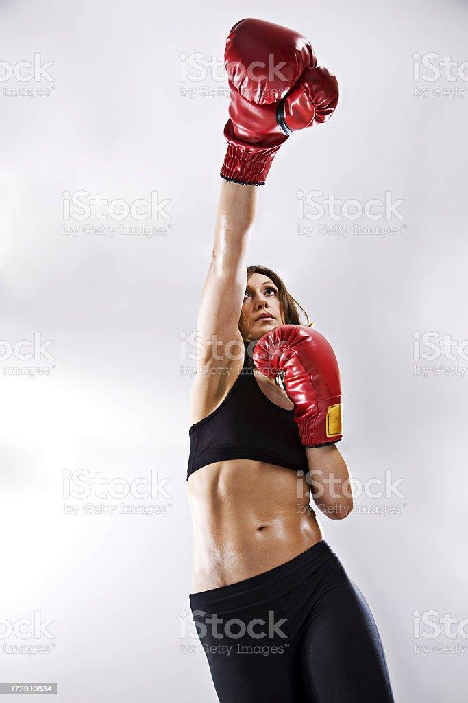 Kick Boxer royalty-free stock photo
