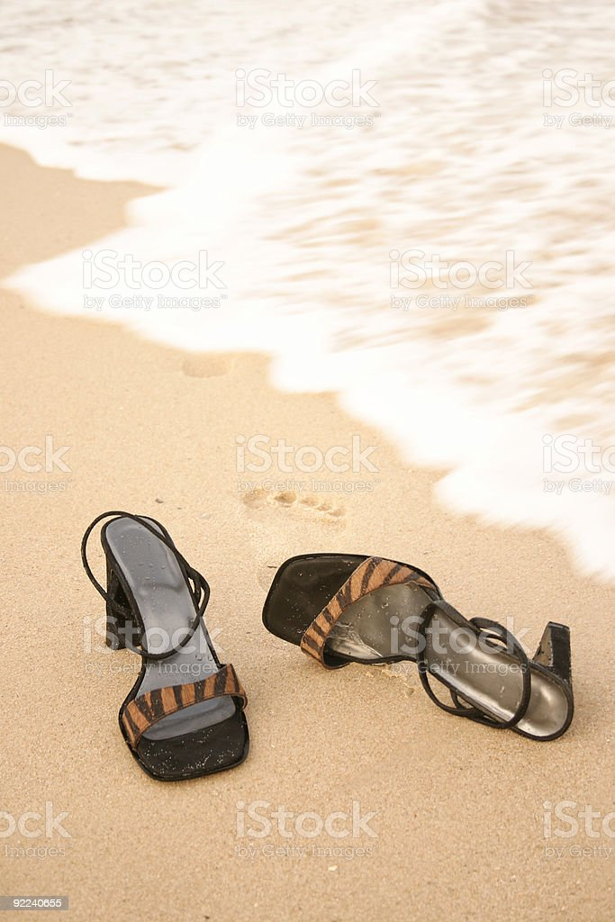 Kick off your heels royalty-free stock photo