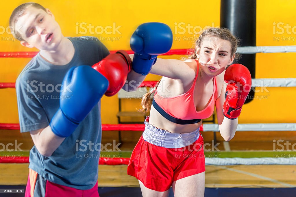 Kick! Punch! Victory! stock photo